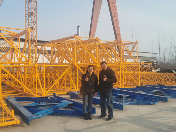 Philippines Customer come to inspect 6ton 5013 Tower Crane