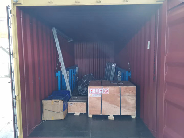 Container loading of cargo lift for our Armenia client