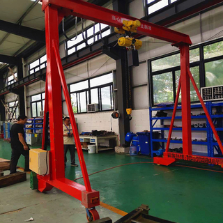Hand Push Mini Gantry Crane with Electric Rotation And Electric Chain Hoist with Good Quality And Nice Price
